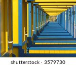colored perspective of beach... | Shutterstock . vector #3579730