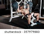 muscular man doing heavy... | Shutterstock . vector #357979883