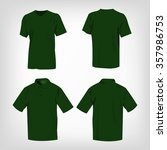 sport green t shirt and polo...   Shutterstock .eps vector #357986753