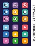 flat icon set. colorful...