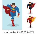 superhero running forward.... | Shutterstock .eps vector #357994577