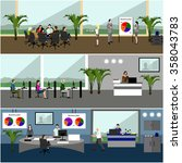 vector flat design of business...   Shutterstock .eps vector #358043783