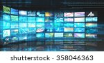 media technologies concept as a ... | Shutterstock . vector #358046363
