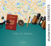 travel and adventure template ... | Shutterstock .eps vector #358053173