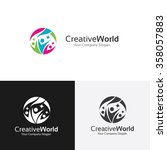 creative world logo family logo ... | Shutterstock .eps vector #358057883