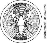 zodiac sign cancer. vector... | Shutterstock .eps vector #358060793