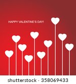 valentines day heart flowers on ... | Shutterstock .eps vector #358069433