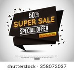 Super Sale Banner With Gold...