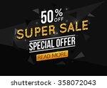 Super Sale Black Paper Banner...