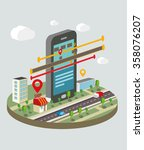 isometric vector illustration... | Shutterstock .eps vector #358076207