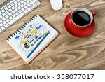 business workplace with stuff | Shutterstock . vector #358077017