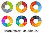 set of circular puzzle...   Shutterstock .eps vector #358086227