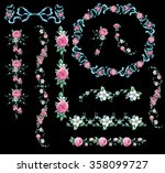 Decorative Elements With Pink...