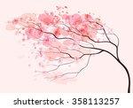 sakura branch  spring floral... | Shutterstock .eps vector #358113257