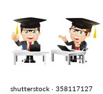 people set   e learning concept | Shutterstock .eps vector #358117127