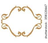 premium gold vintage baroque...   Shutterstock .eps vector #358120667