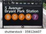 new york subway sign at fifth... | Shutterstock . vector #358126607