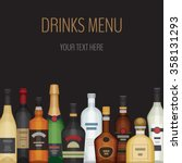card with different alcohol... | Shutterstock .eps vector #358131293