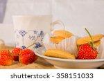 Tea Time Braek With Strawburry...