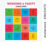 wedding and party icons. dress  ... | Shutterstock .eps vector #358152473