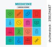 medicine icons. syringe ... | Shutterstock .eps vector #358154687