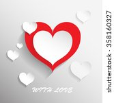 paper hearts decorative grey... | Shutterstock . vector #358160327