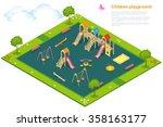 Children Playground. Flat 3d...
