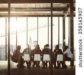 group of multiethnic people... | Shutterstock . vector #358165907