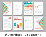 template. set of poster  flyer  ... | Shutterstock .eps vector #358180547