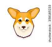 portrait of pembroke welsh...   Shutterstock .eps vector #358185233