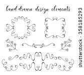 set of doodle frames and... | Shutterstock .eps vector #358185293