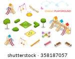 big set of playgrounds elements.... | Shutterstock .eps vector #358187057
