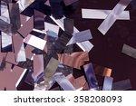 cut into strips foil | Shutterstock . vector #358208093