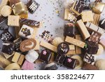 delicious stack of sweet... | Shutterstock . vector #358224677