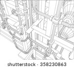 vector outline oil and gas... | Shutterstock .eps vector #358230863