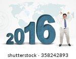 successful overweight... | Shutterstock . vector #358242893