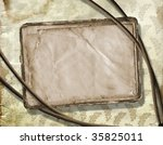 old paper are hanging in the... | Shutterstock . vector #35825011