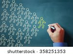 leadership concept male hand... | Shutterstock . vector #358251353