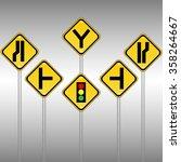 traffic sign on white background | Shutterstock .eps vector #358264667
