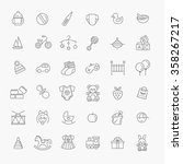outline web icon set. baby toys ... | Shutterstock .eps vector #358267217