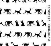 Monkey Black Shadows Silhouett...