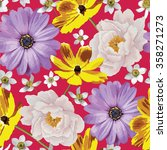 elegance seamless color flower...   Shutterstock .eps vector #358271273
