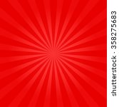 red shiny sunburst background.... | Shutterstock .eps vector #358275683