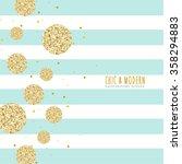 modern chic polka dot and... | Shutterstock .eps vector #358294883