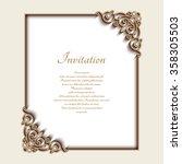 vintage gold background  vector ... | Shutterstock .eps vector #358305503