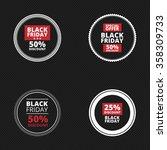 black friday labels   Shutterstock .eps vector #358309733