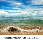 ocean shore as nature travel... | Shutterstock . vector #358318517