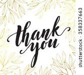 thank you golden  lettering... | Shutterstock .eps vector #358337663