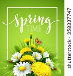 fresh spring background with... | Shutterstock .eps vector #358337747