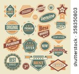 retro labels and stickers... | Shutterstock .eps vector #358350803